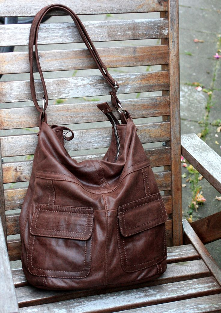 Beautifull soft and slouchy, brown bag - custom order