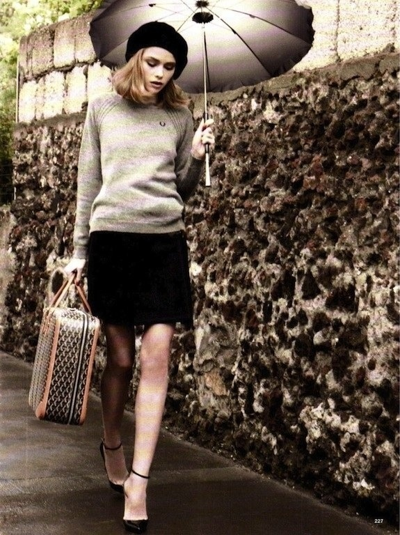 Cozy day outfit-- would most likely be worn with leggings that were also black, or a deepened color,