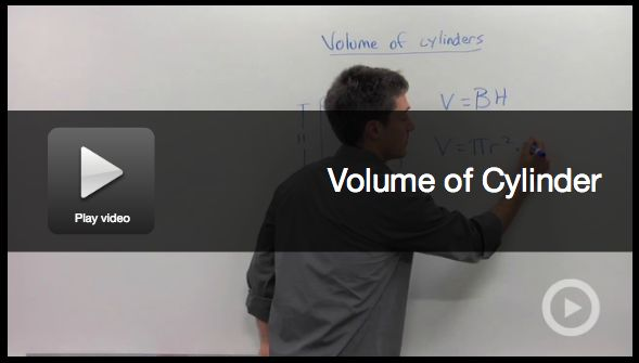 Math Video: How to Calculate the Volume of a Cylinder