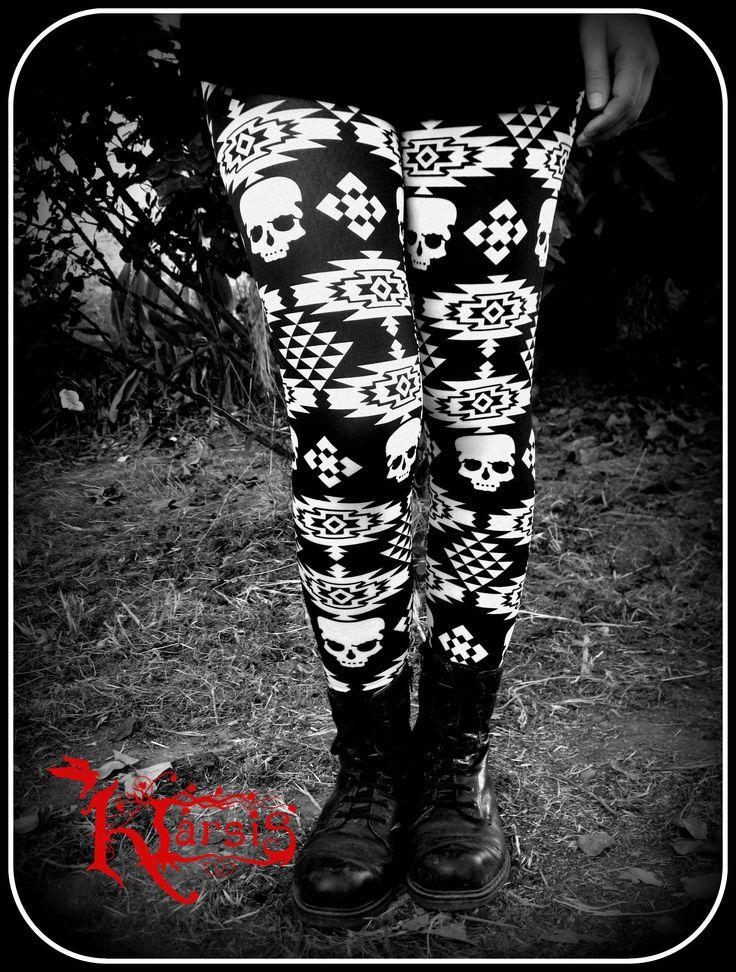 leggins etnica skull