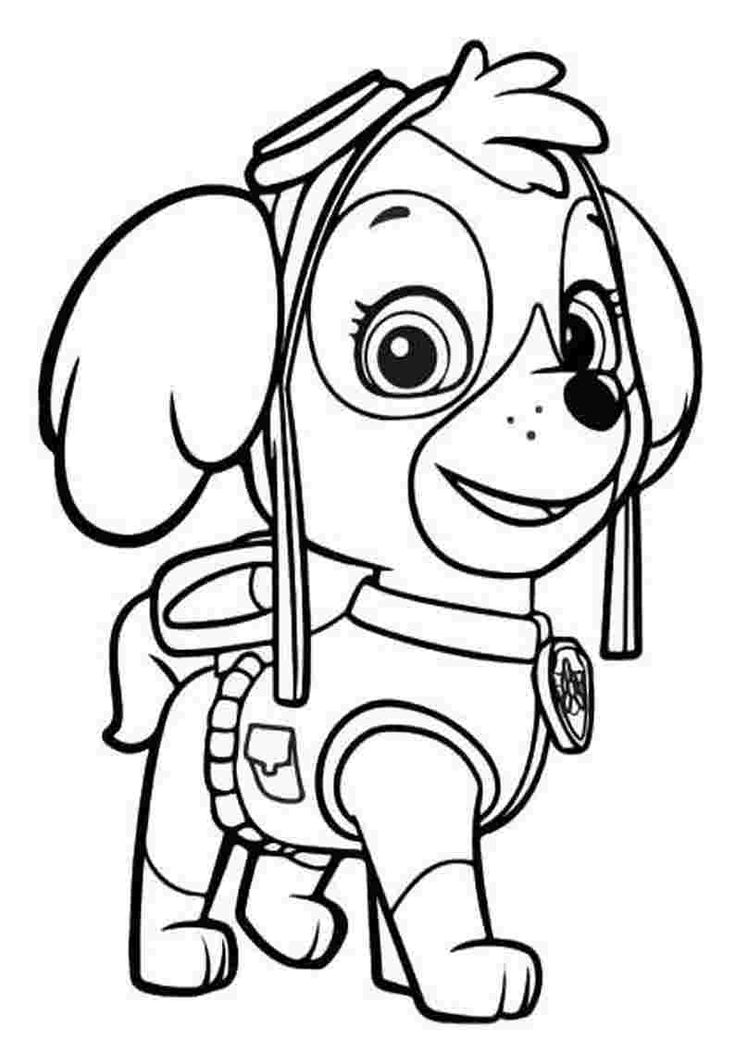 paw patrol coloring pages printileab sky i 2020 med