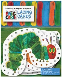 Toddlers will love The Very Hungry Caterpillar Lacing Cards!