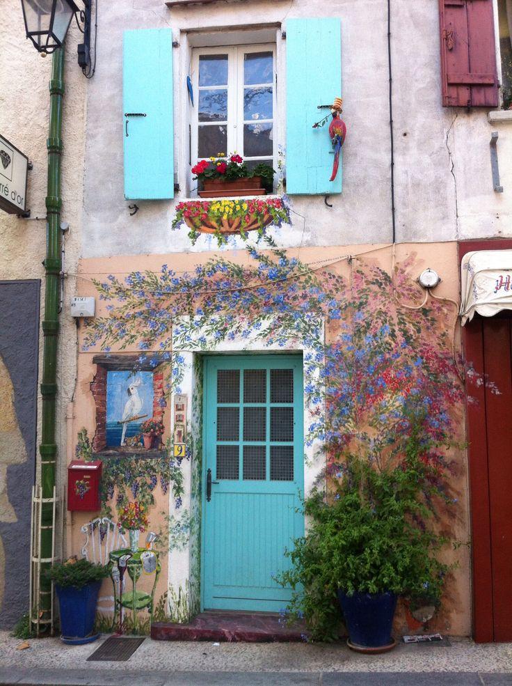 Painted house, Argeles sur mer, France