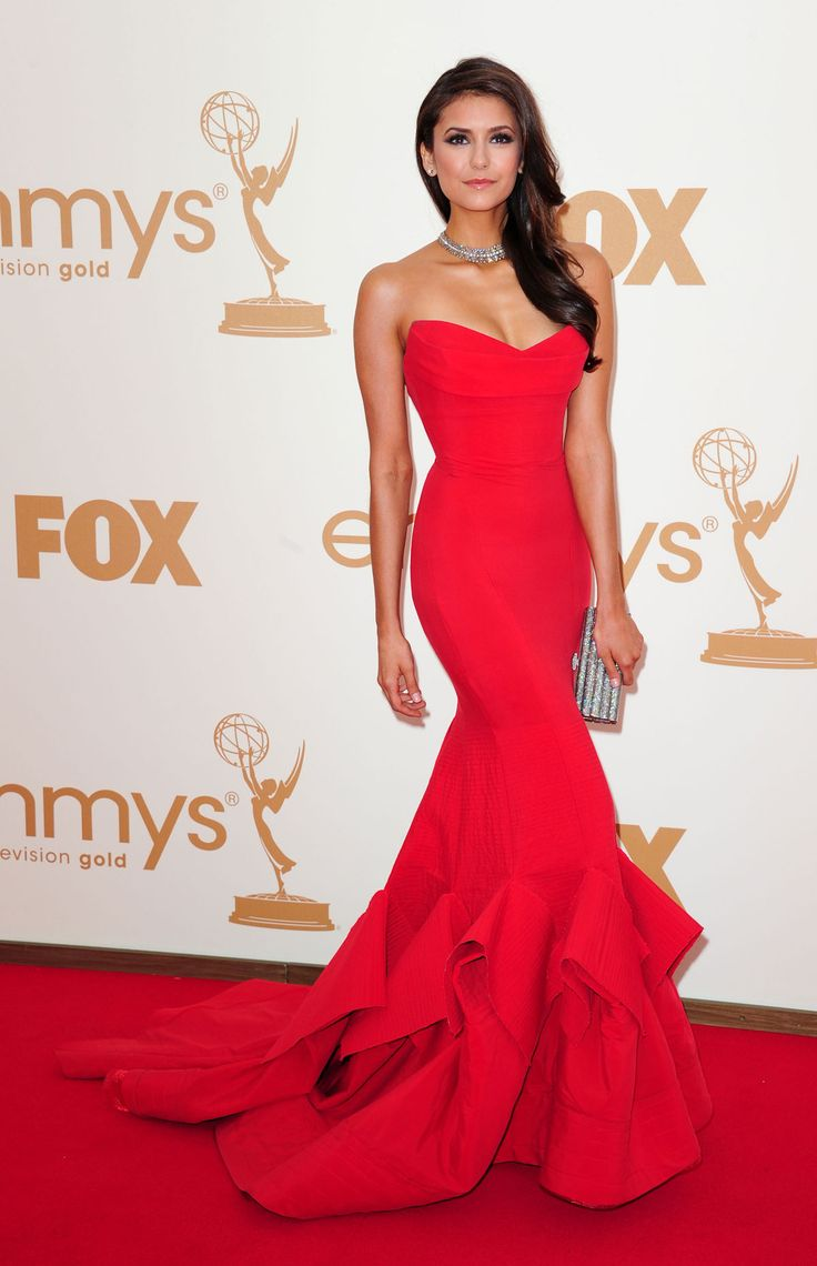 nina dobrev Donna Karen Atelier Gown. I want this gown, even though I have no idea where I'd where it. I'd wear it around my house if I had to!