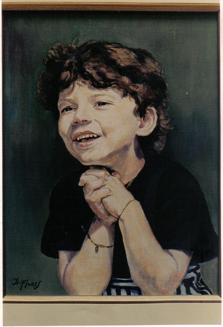 Niño Israeli  50x70 cms  -Oleo sobre tela 1987