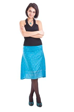 Women can wear skirts to help conceal thick adult diapers!