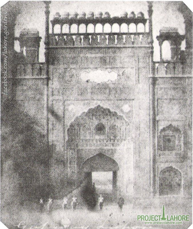 c. 1849: One of the earliest photographs taken in Indian Sub-Continent showing gateway of Badshahi Mosque - Lahore, A photograph by Dr. John McCosh (b:5 March 1805 - d:18 January 1885) was one of a number of Scottish photographers who traveled abroad in the mid-19th century including India.