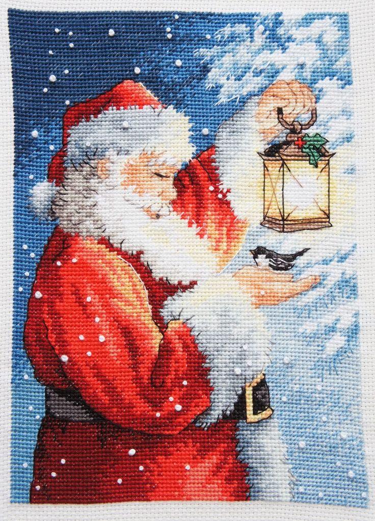 🎄 Новогодняя схема вышивки от Дименшенс Пернатый друг с Дедом Морозом/Сантой Dimensions 70-08831 - Santas Feathered Friend    Забирайте себе на стенку🎁!  Ссылка на скачивание http://stitchlike.ru/ycc9    #stitchlike_dimensions, #вышивка, #поделки, #схемы_вышивки