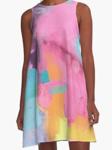 Abstract #4 A-Line Dress
