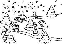 Weihnachtslandschaft Schnee