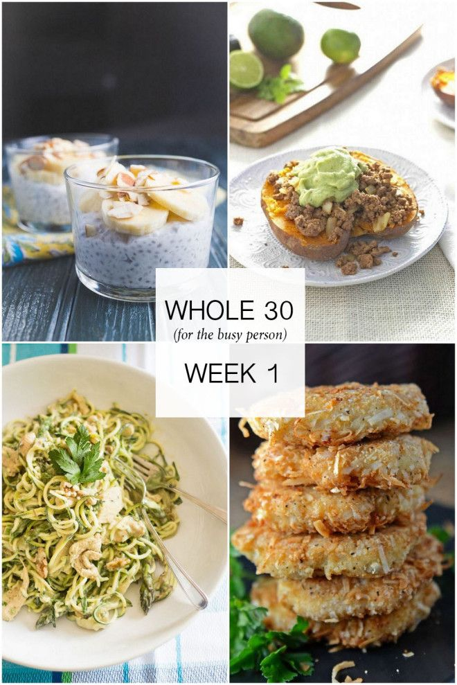 Whole 30 Meal Plan for The Busy Person (Wk 1) | The Effortless Chic | Bloglovin'
