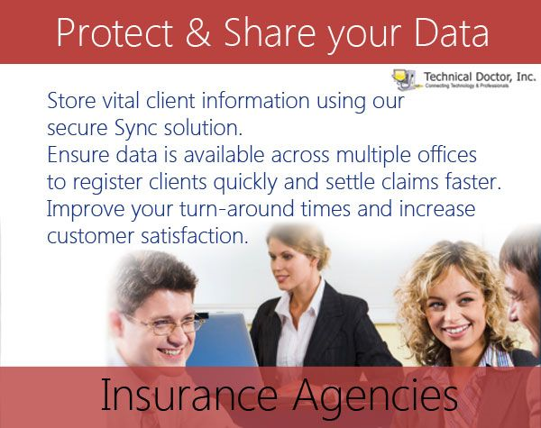 Store vital client information using our HIPAA compliant Sync solution. Ensure data is available across multiple offices to register clients quickly and settle claims faster. Improve your turn-around times and increase customer satisfaction.