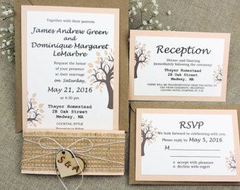 You Are Invited! We are creating a highly customizable rustic wedding invitations which are beautifully set the stage for your wedding. We