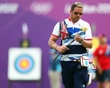 Larry Godfrey of Great Britain inspects his arrows during the Archery Ranking Round on Olympics Opening Day as part of the London 2012 Olympic Games at the Lord's Cricket Ground on July 27, 2012 in London, England. - http://www.PaulFDavis.com/success-speaker (info@PaulFDavis.com)