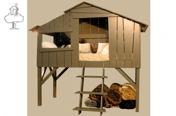 De Boomhut: geweldig bed voor de #kinderkamer | Great bed for the #kidsroom by Mathy by Bols