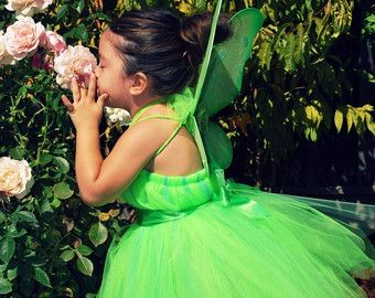Green Pixie Fairy Halloween Costume Tutu Dress by punknpiecouture
