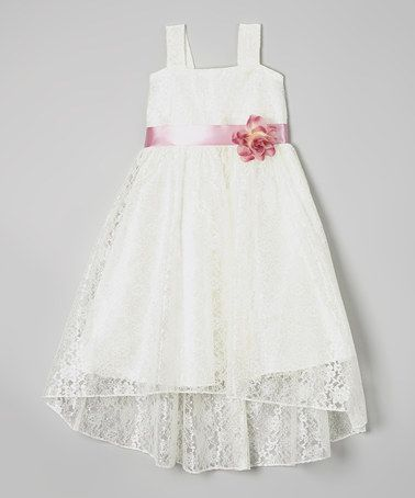 This Ivory & Rose Lace A-Line Dress - Toddler & Girls is perfect! #zulilyfinds
