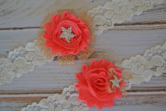 Hey, I found this really awesome Etsy listing at https://www.etsy.com/listing/190138127/gold-coral-beach-wedding-bridal-garter