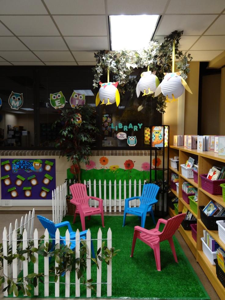 Cute Owl Classroom Decorations ~ Ideas about kindergarten reading corner on pinterest
