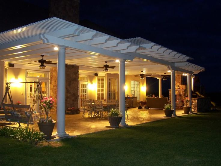 would love to add more shade to the small patio by extending it out with this covered patio designcovered - Covered Patio Designs