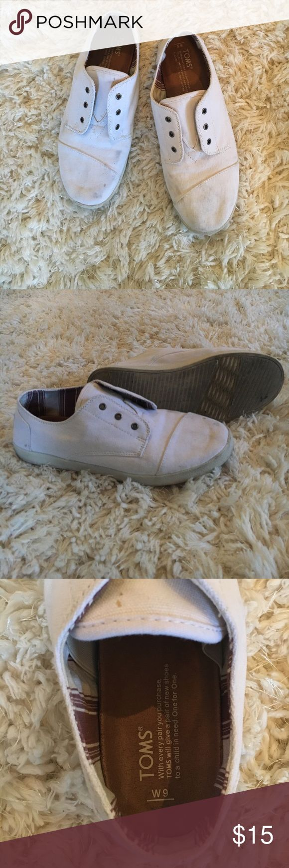 Toms slip one In good condition just need a wash Toms Shoes Sneakers