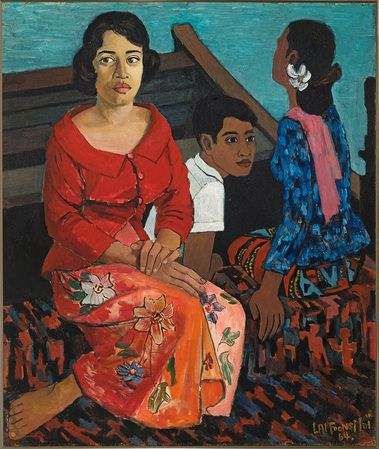 LAI FOONG MOI, Home Coming, 1964, oil on canvas, 77 × 65 cm. Collection of Singapore Airlines Limited.