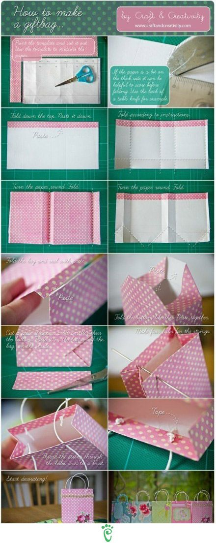 easy to make paper bag. great for gifts!