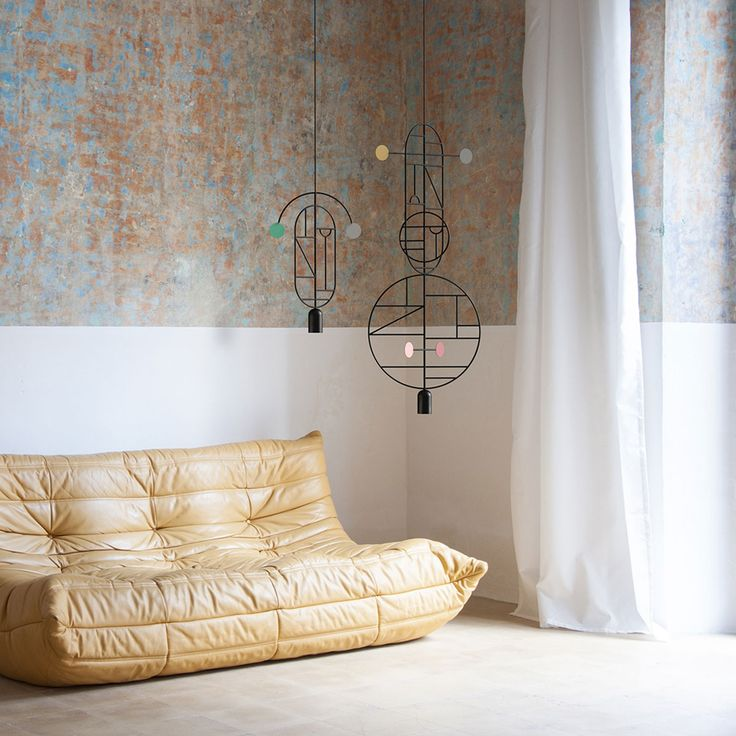 These graphic mobile-style light fixtures are the stuff of dreams. Totally incredible.