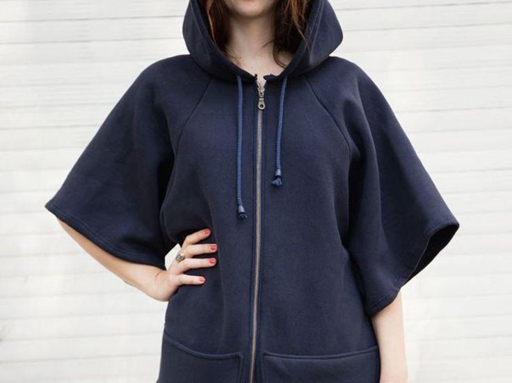 Tutoriel DIY: Coudre un sweat à capuche zippé oversize via DaWanda.com