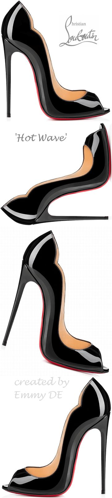 Christian Louboutin ~ Black Patent Leather Pumps 2015
