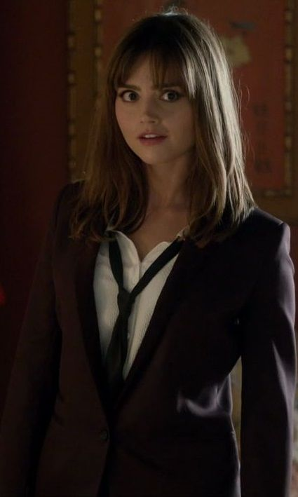 Jenna Louise Coleman as Clara Oswald in The Time Heist. Love this look