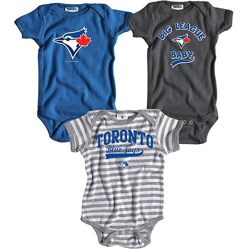 Toronto Blue Jays 3 Pack Boys Big League Baby Creeper Set by Soft as a Grape - MLB.com Shop