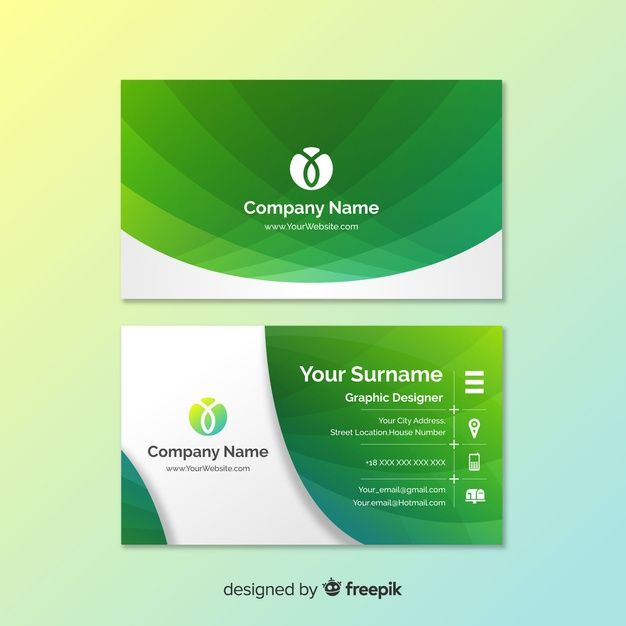 Download Abstract Gradient Business Card Template For Free Free Business Card Templates Vector Business Card Create Business Cards