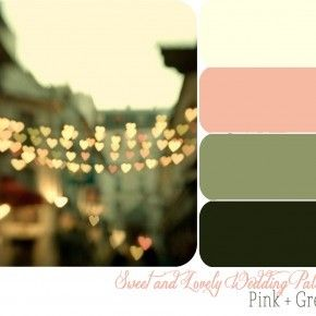 Sweet And Lovely Weddings with pink and army green!