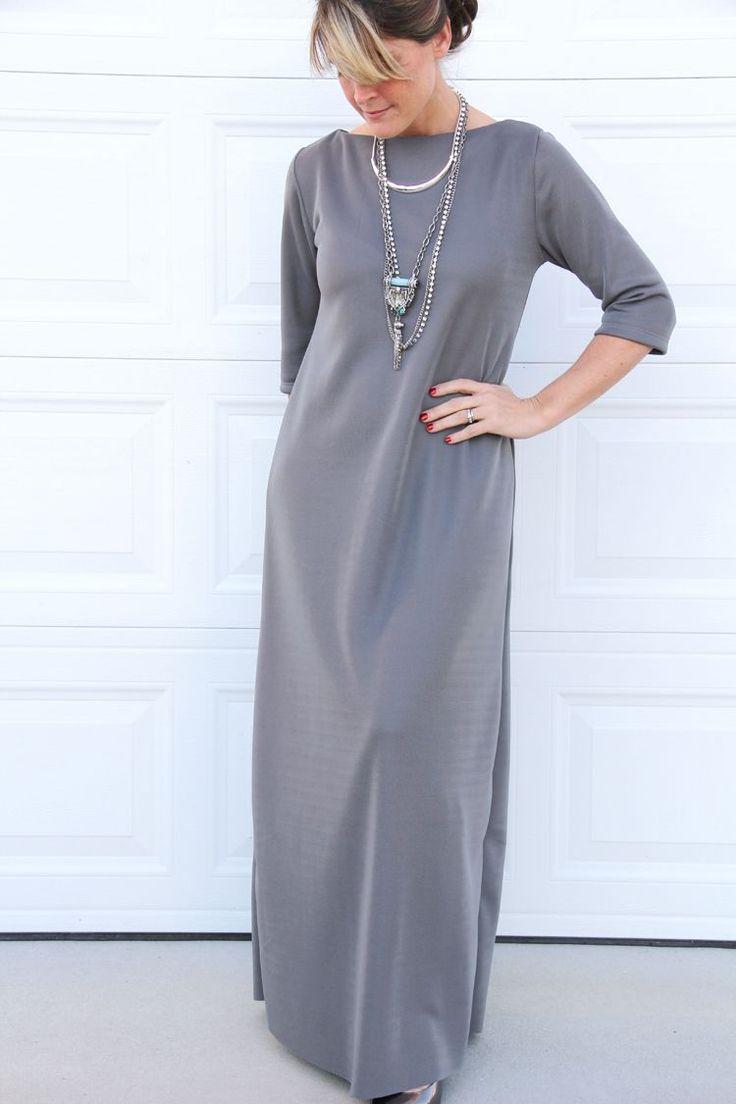 MAKE A SHORT SLEEVED VERSION FOR SUMMER! Easy Maxi Dress DIY