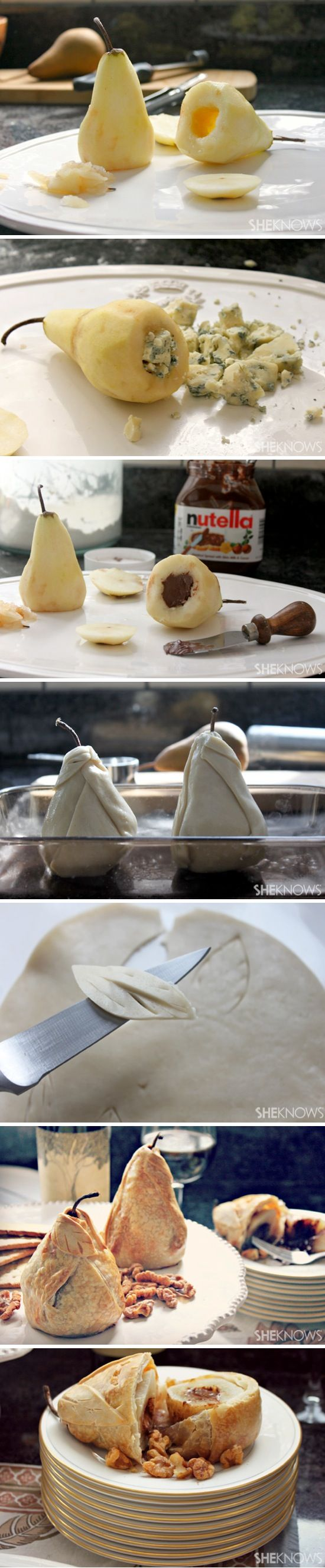 Stuffed & Baked Pear Pies | Recipe By Photo