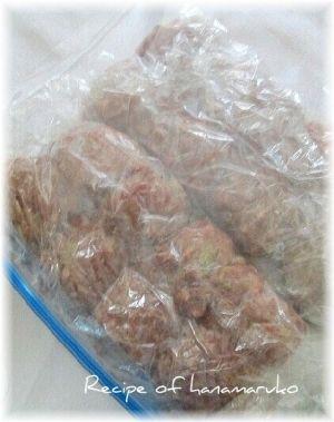 肉団子の作り置き・冷凍保存 レシピ・作り方 by はなまる子♪|楽天レシピ