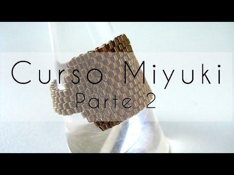 ▶ Curso Abalorios - Tecnicas con Miyuki ( Reducir filas y Cierre cremallera ) - 2º parte - YouTube