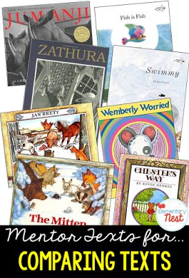 Primary mentor text suggested book list for comparing two texts by the same author- focuses on character, setting, and events in two different…