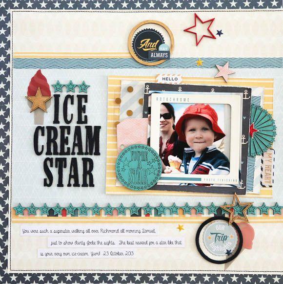 Ice Cream Star Scrapbook Com Mix Embellishments And