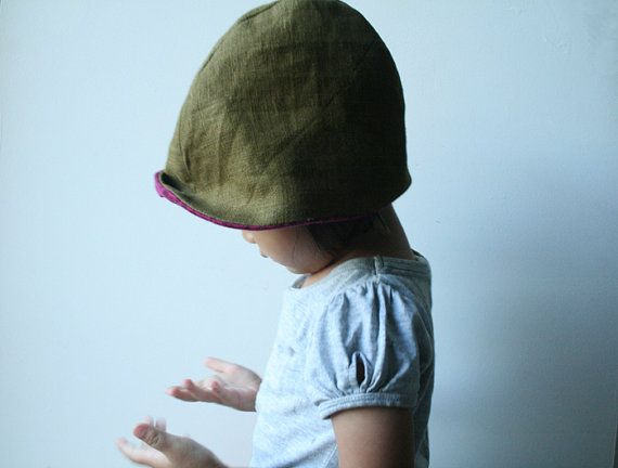 LINEN  WOOL HAT  ready to ship / toddler children / by PAMELATANG