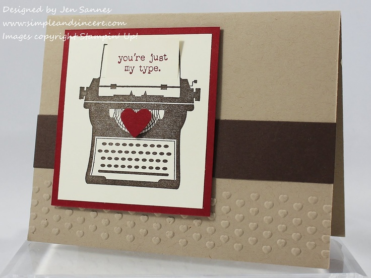 Attractive Card Making Equipment Ideas Part - 6: Another Great Vintage Typewriter Card And Sketch!