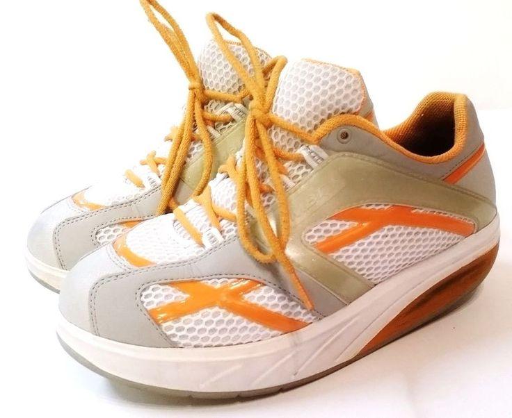 Womens MBT Walking Toning Sneaker US 9 EUR 39 2/3 M. Walk Orange