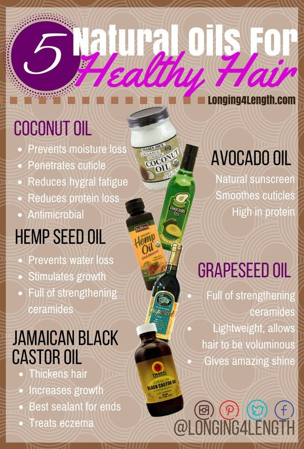 #L4LHair Tip Tuesday 5 Healthy Hair Oils - Oils to Grow Long Hair, Hot Oil Treatment, Best Oils for Natural Hair