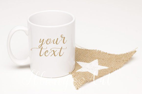 white star Mug mockup  by IllangoArt on @creativemarket