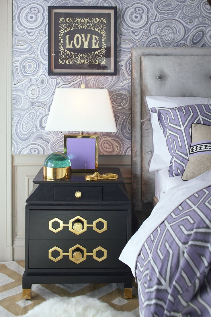 Use wallpaper for a splash of unexpected style in overlooked places. #jonathanadler