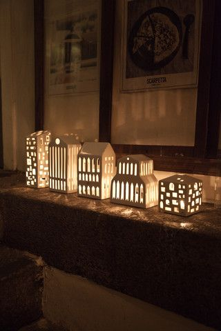 Beautiful Danish Tea Light Houses, Candle Holders and Lanterns