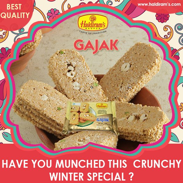 Enjoy Your Winter Season With Haldiram's Special Gajak. For more details : http://www.haldirams.com/winter-special-50/gajak-jaggery-dry-fruit.html
