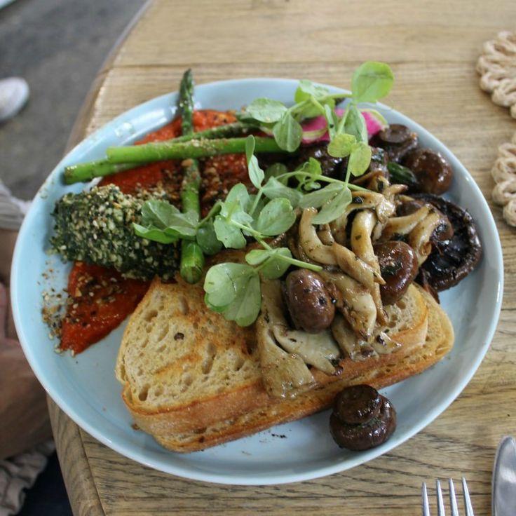 Another beautiful breakfast - three mushrooms at Cardamom Pod.