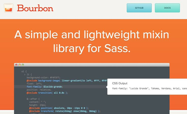 Mixin library for Sass / CSS